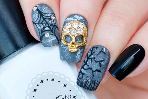 45 Sexy And Spooktacular Ideas For Halloween Nail Art To Scare Your Friends