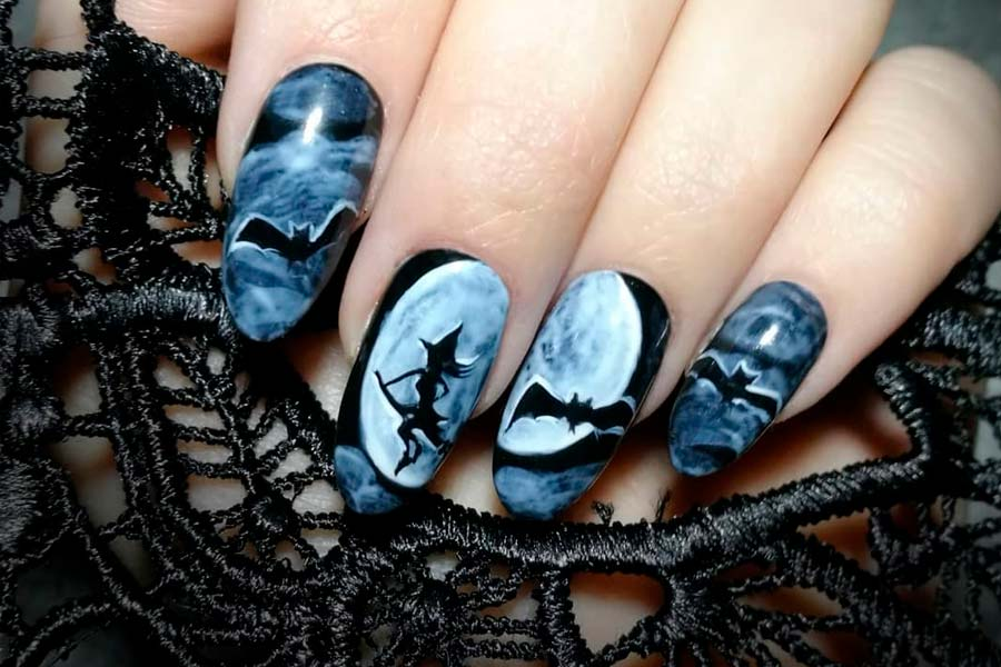 Halloween Nails Designs 2020 Short Nails 41 Cute And Creepy Halloween Nail Designs 2020