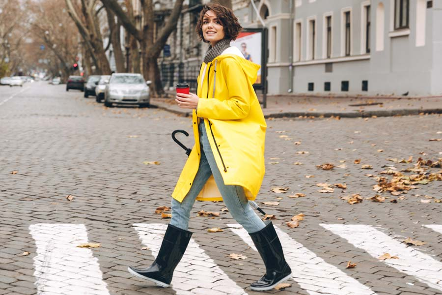 Stylish Outfits With Rain Boots That Really Make A Splash