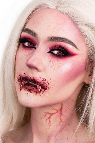 Bloody Vampire Makeup With Smokey #eyeliner #smokey