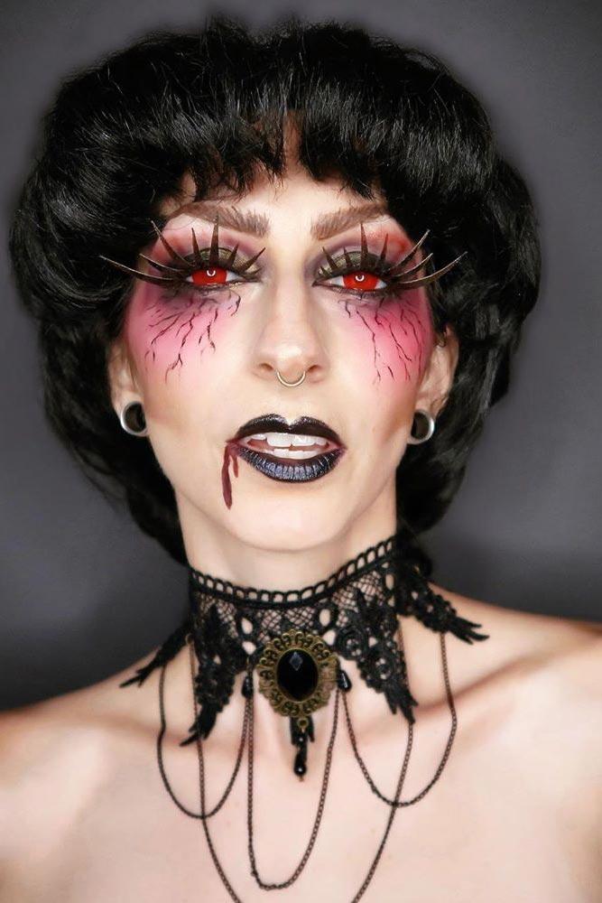 Fantasy Vampire Makeup Idea #fantasylook