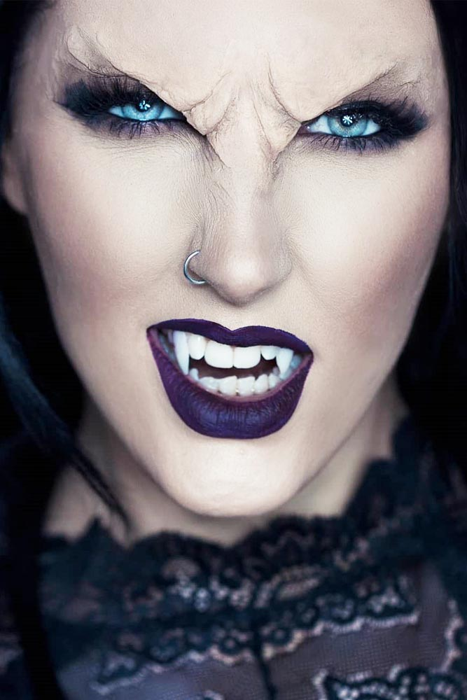 Realistic Vampire Makeup Idea #scary