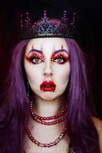 Vampire Queen Makeup Idea #vampirequeen