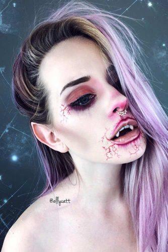 Scary Vampire Makeup Idea