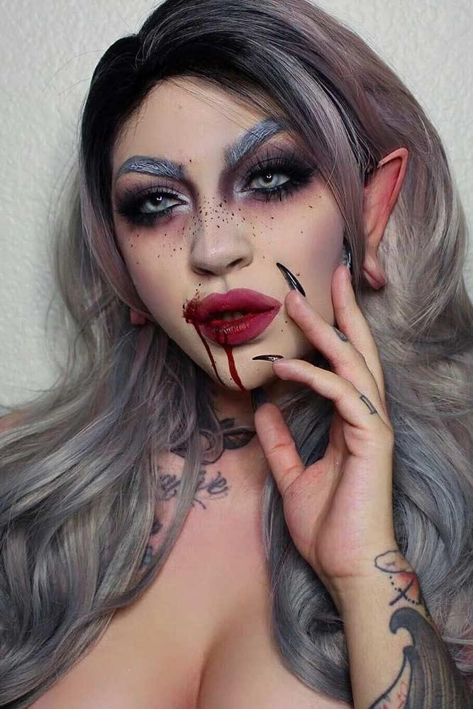 Fantasy Vampire Makeup Idea #fantasymakeup #smokey