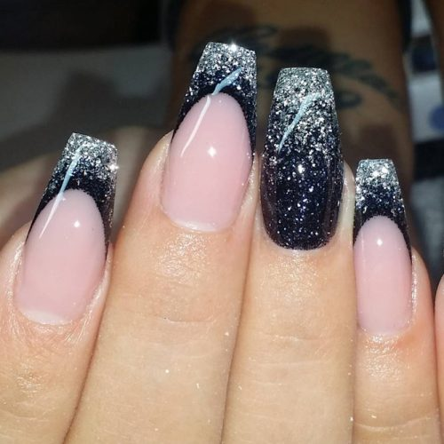 Cute Black and Silver Nails Designs picture 2