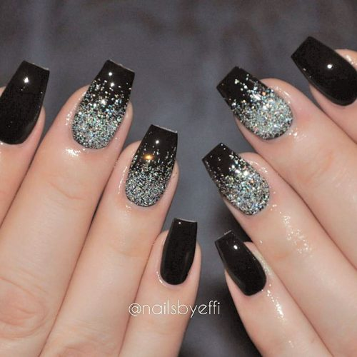 Cute Black and Silver Nails Designs picture 5