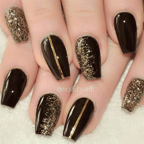 Newest Black Glitter Nails Ideas picture 1