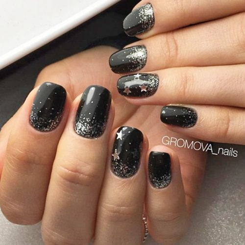Cute Black and Silver Nails Designs picture 1