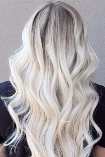 So Stylish and Cute Bleach Blonde Hair picture