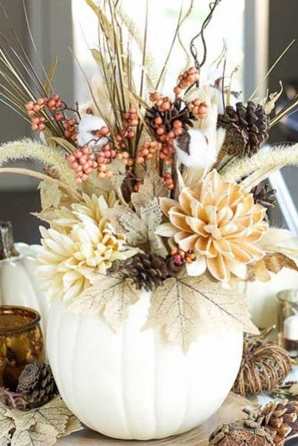 Flower Thanksgiving Centerpiece Design #flowers #centerpiece