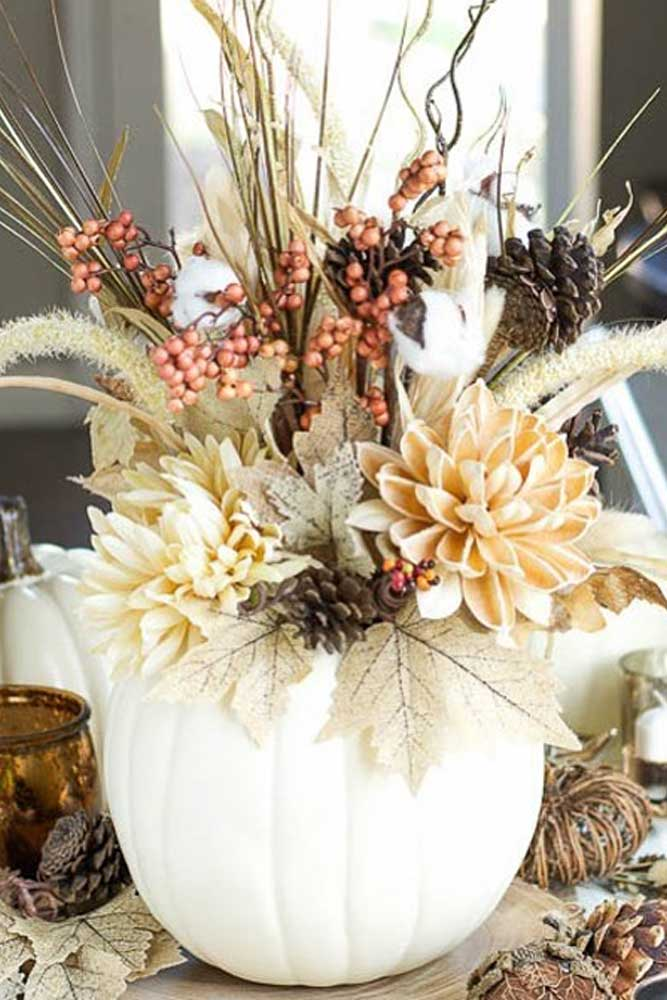Flower Thanksgiving Centerpiece Design #flowers #centerpiece