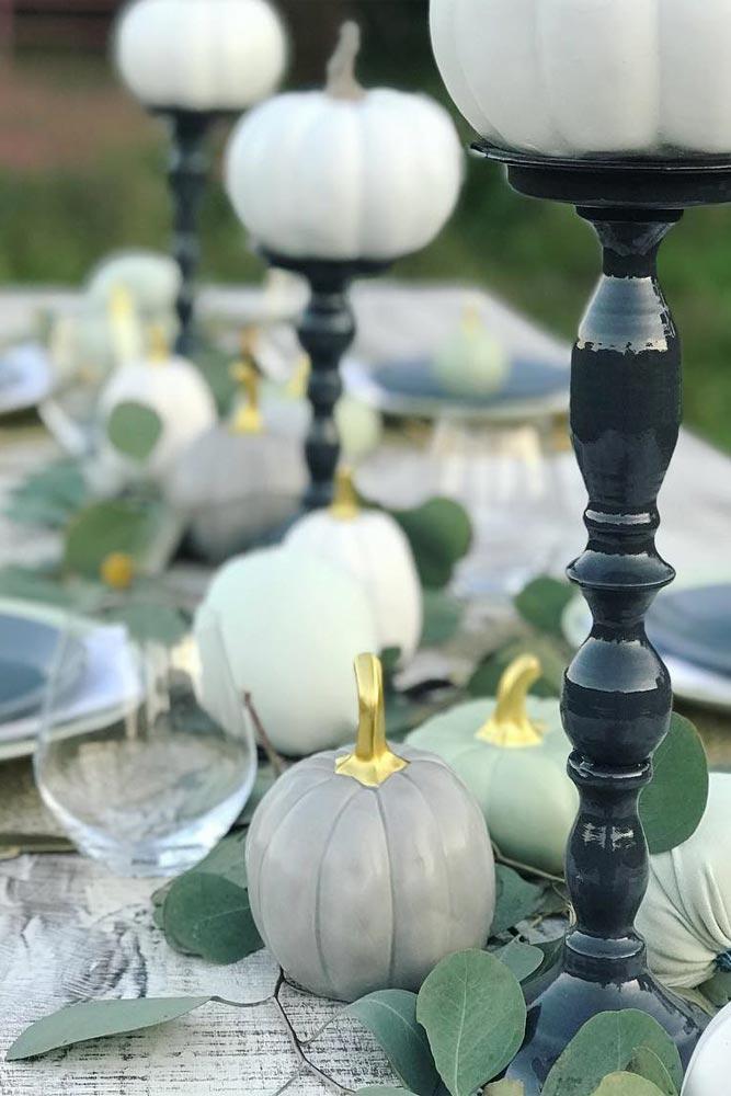 Table Decor With Pumpkins #centerpiece #pumpkins