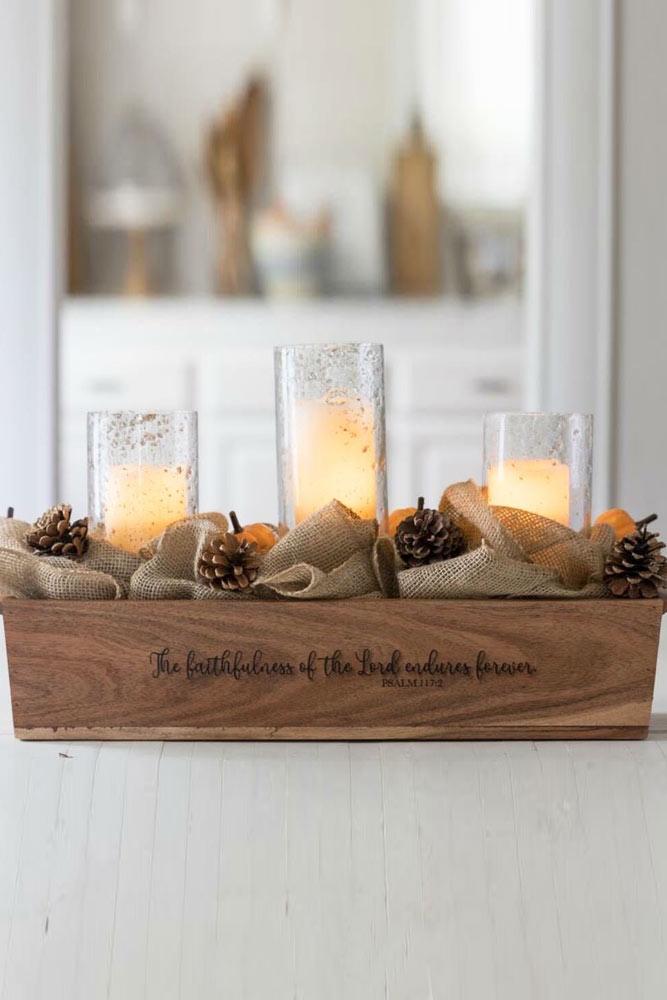 Candle Thanksgiving Centerpiece Design #candle #centerpiece