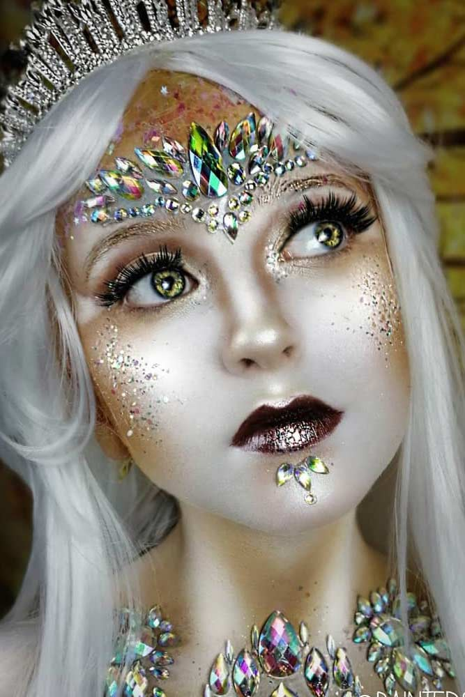Fantasy Sparkly Snow Queen #snowqueen