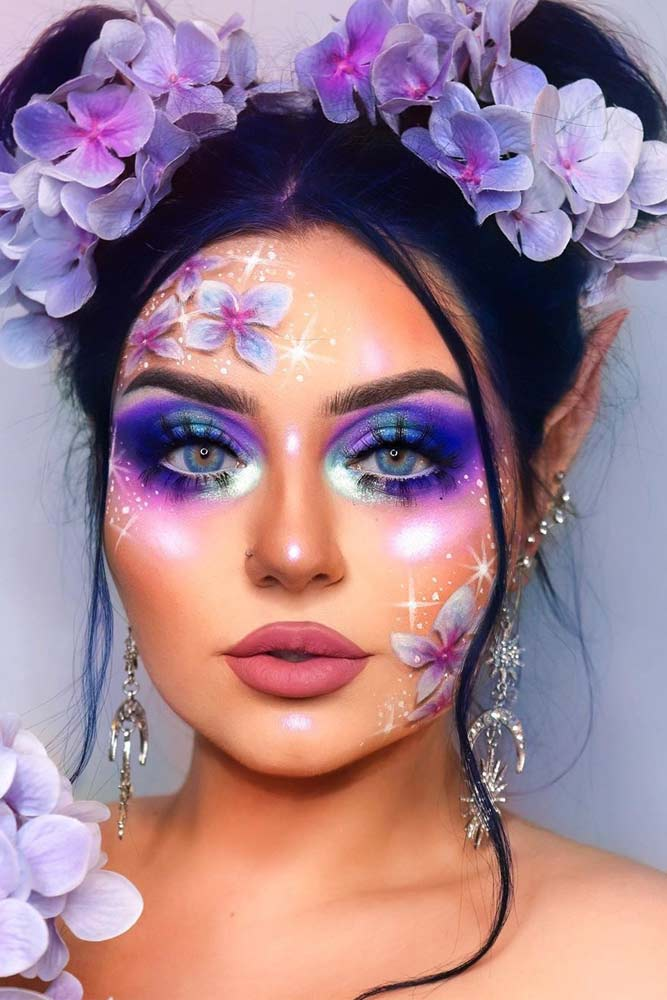 Lilac Fairy Makeup Idea #lilacfairy #fairymakeup
