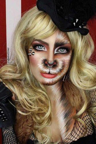 Fantasy Wild Cat Makeup Idea #wildcat #catmakeup