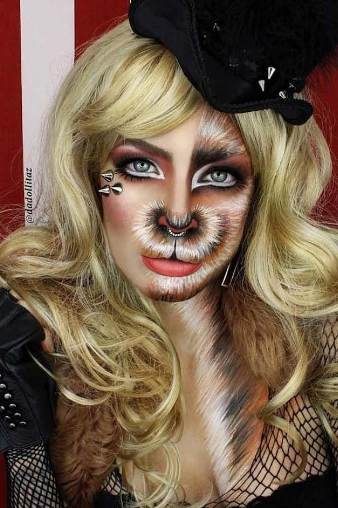 Fantasy Wild Cat Makeup Idea #wildcat #catmakeup