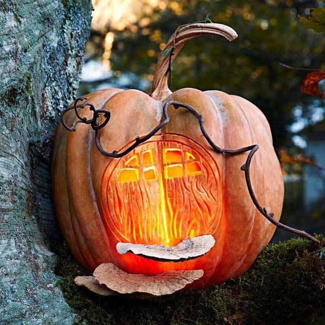 Fantasy House Halloween Carving Idea #fantasyhouse