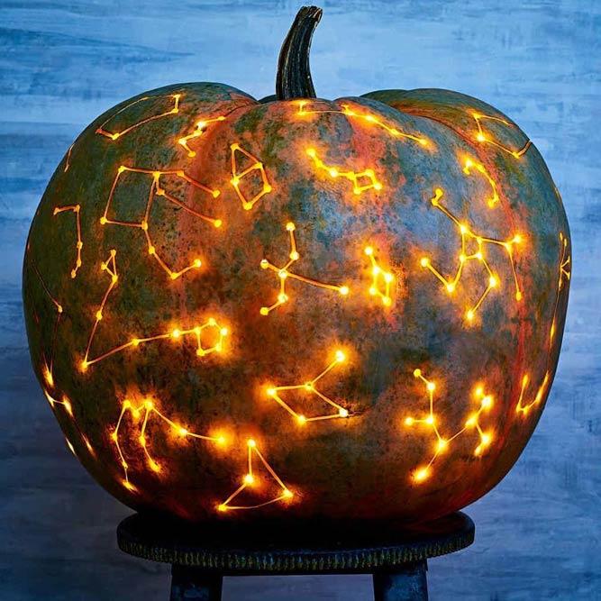 Constellation Art Pumpkin Carving Idea