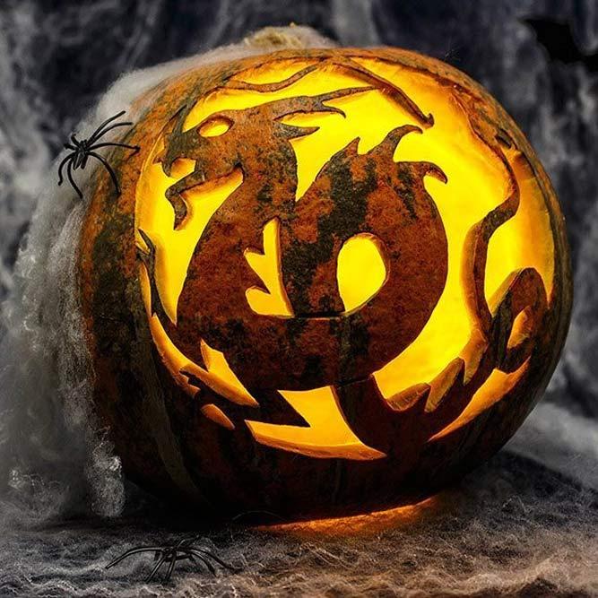 Dragon Pumpkin Carving Idea #dragonart