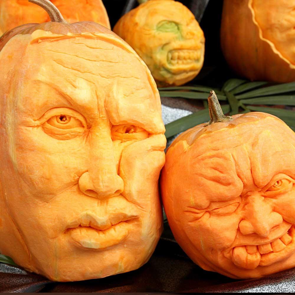 Funny Faces Carving Idea