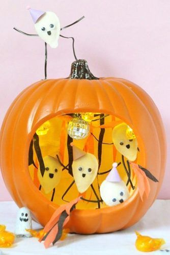 Ghost Pumpkin Carving Idea #ghost