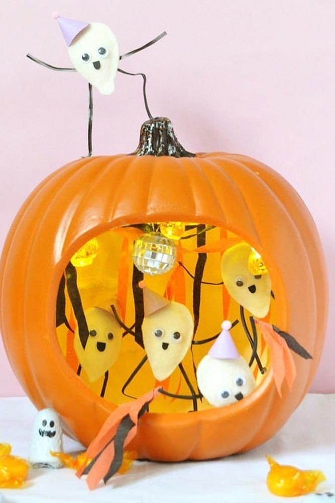 Ghost Pumpkin Carving Idea #ghost