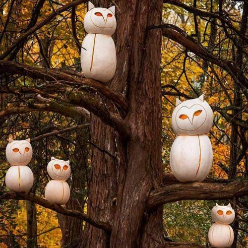 Treeful Of Sharp-eyed Owls #owlcarvingidea
