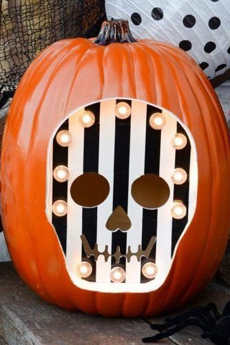 Skeleton Pumpkin Carving Idea #skeletonpumpkin