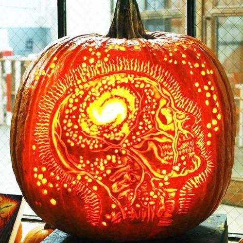 Fairy Skull Pumpkin Carving Idea