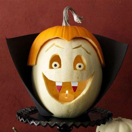Vampire Pumpkin Carving Idea #vampire
