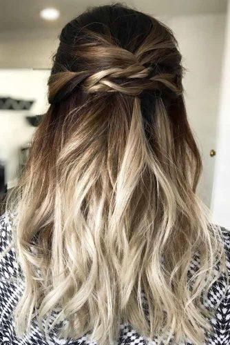 Half Up Hairstyles for Long Hair with Hightlights Picture 1