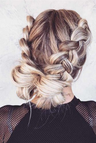 Braided Updo Hairstyles with Balayage Picture 2
