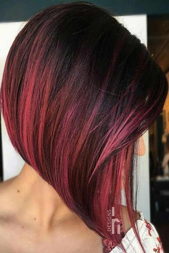 Burgundy Hair Highlights Picture2