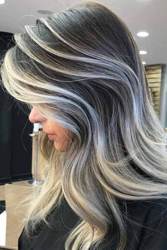 Grey Colored Hair Highlights Picture2