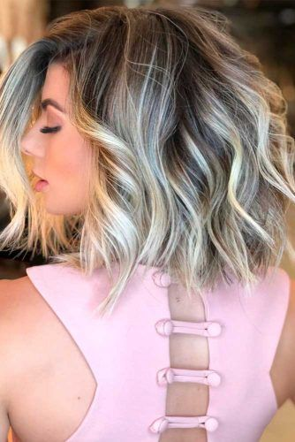 Ash Blonde Highlights #bobhairstyles #highlightshair