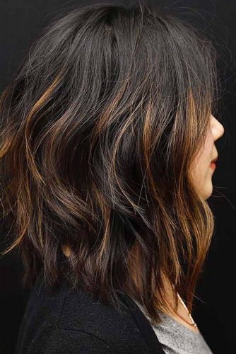 Rock Highlights On Medium Length Layered Hair picture 2