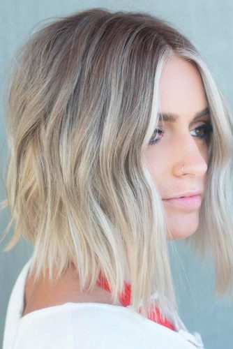 Rock Highlights On Medium Length Layered Hair picture 5