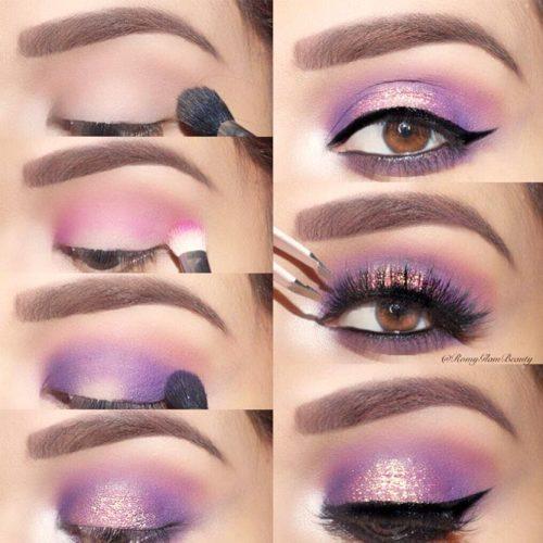 Purple Smokey Eyes Tutorials picture 5