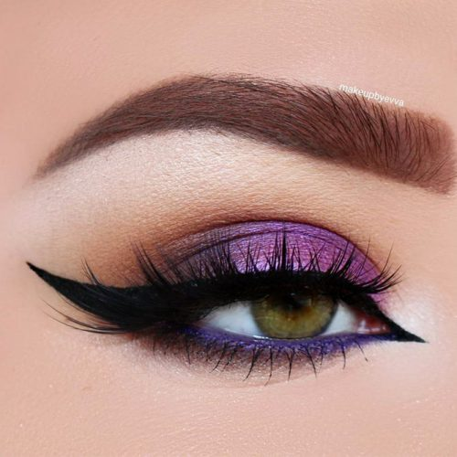 Purple Smokey Eye for Green Eyes picture 2