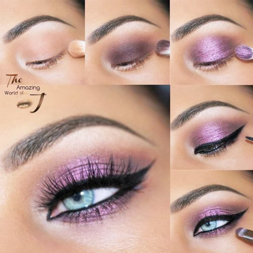 Purple Smokey Eyes Tutorials picture 2