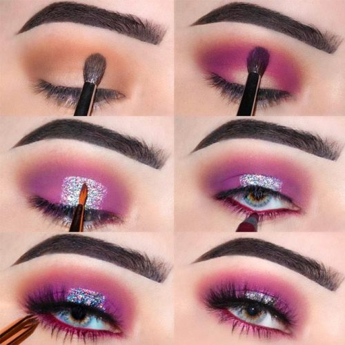 Purple Smokey Eyes Tutorials picture 3