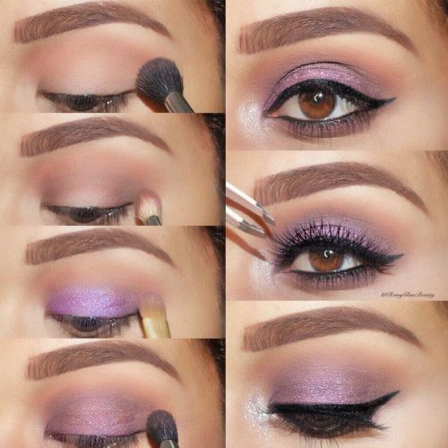 Purple Smokey Eyes Tutorials picture 1