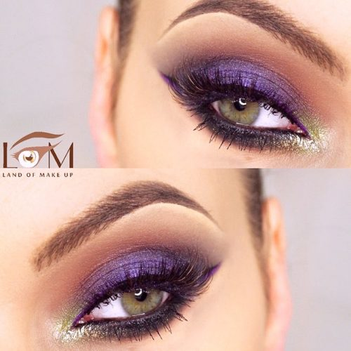 Purple Smokey Eye for Green Eyes picture 3