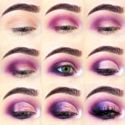 Purple Smokey Eyes Tutorials picture 6