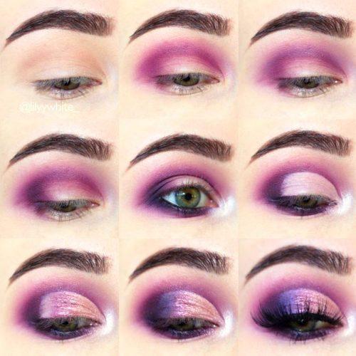 Purple Smokey Eyes Tutorials picture 6