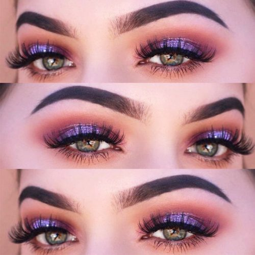 Purple Smokey Eye for Green Eyes picture 1