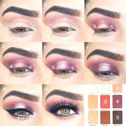 Purple Smokey Eyes Tutorials picture 4