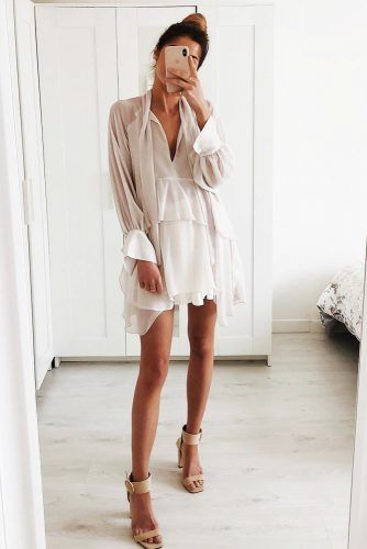 Layered Dress Date Night Outfit #blushdress